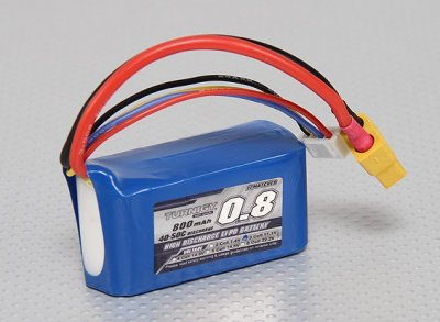 Tunirgy 800mAh Lipo Battery, XT60, 3S 40C