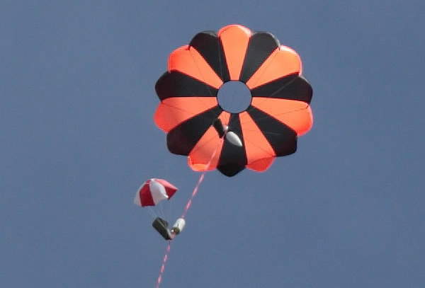 "60"" Elliptical Parachute - 12lb @ 20fps"
