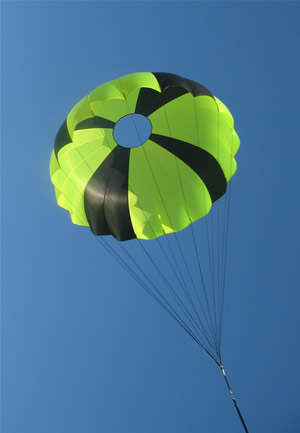 "12"" Elliptical Parachute - 0.5lb @ 20fps"
